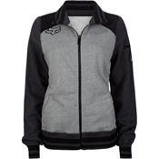 Stud Womens Track Jacket - Heather Grey