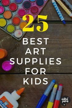 The Artful Parent list of all-time favorite kids art materials based on years of experience. Click to see the best paints, drawing materials, playdough, and more. Plus you can get free printable lists by age!