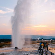 The Beehive Geyser in Yellowstone National Park.