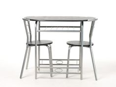 Krasavic 3 Piece Kitchen Dining Table Set for 2 with Stack Chairs,Wood Top Metal Finish,Black/Silver VECELO http://www.amazon.com/dp/B00Z09669K/ref=cm_sw_r_pi_dp_NMKwwb197GVV6