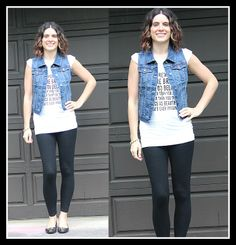 Denim Vest 3 Ways and Tres-Chic Fashion Thursday Link Up