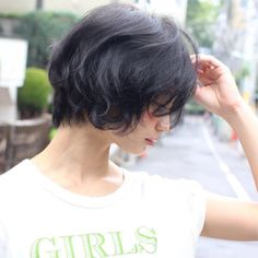【Un ami 表参道】そろそろ春ヘアに…黒髪でもかわいい、ニュアンスウェーブ、ショートボブ♪
