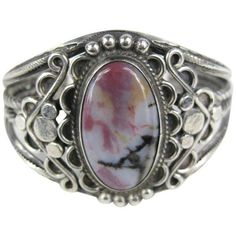 Preowned Old Pawn Navajo Sterling Silver Purple Hue Petrified Wood... ($1,100) ❤ liked on Polyvore featuring jewelry, bracelets, purple, sterling silver cuff bracelet, cuff bangle, navajo jewelry, wood cuff bracelet and sterling silver jewelry