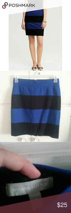 Banana Republic Sloan Rugby Stripe Pencil Skirt Very gently worn no flaws, perfect for the office with a nice pair of flats! Comes from a smoke free & pet free home. Banana Republic Skirts Pencil