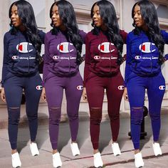 7181e2c75fbb Women 2Pcs Tracksuit Hoodies Sweatshirt Pants Sets Ladies Sport Wear Casual  Suit Casual Winter Outfits