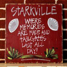Starkville, #Mississippi Tailgating Sign