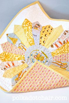 Dresden Block Doll Quilt on polkadotchair.com