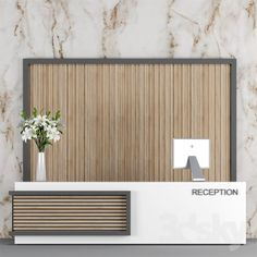 Reception models: Office furniture - How Ozone Air Purifiers Work There is a debate Reception Counter Design, Office Reception Design, Modern Reception Desk, Office Table Design, Reception Furniture, Office Furniture Design, Office Counter Design, Clinic Interior Design, Lobby Design