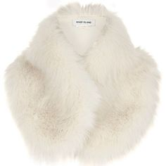 River Island Cream faux fur tippet scarf ($44) ❤ liked on Polyvore featuring accessories, scarves, cream, women, cream shawl, faux fur scarves, river island, faux fur shawl and wrap shawl