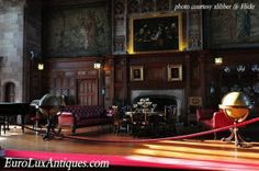 The magnificent paneled sitting room of Bamburgh Castle -- EuroLuxAntiques.com