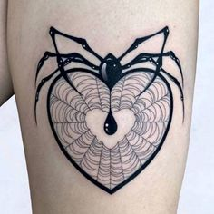 heart web and bloody spider tattoo Badass Tattoos, Up Tattoos, Time Tattoos, Future Tattoos, Body Art Tattoos, Small Tattoos, Sleeve Tattoos, Cool Tattoos, Celtic Tattoos