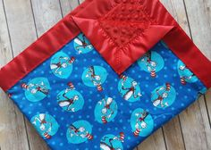 Dr. Seuss minky blanket the cat in the hat by SnuggleBugsShop
