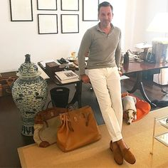 Alexander Kraft (@alexander.kraft) Riviera - style in the Monaco HQs of @sothebysrealty.france... and Bertie is very happy with his comfy new @hermes - dog bed (constructed out of a dust bag for one of my Hermès travel bags)...