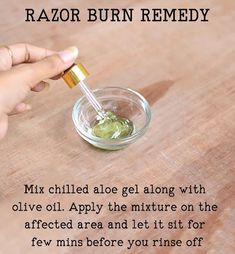 Razor burn remedy Razor burns are redness and burning after few minutes that develop after shaving. Razor bumps cause irritation, rashes and acne. Soothe the irritation and redness with aloe vera mask. Mix chilled 1 tbsp of aloe vera gel along with half Aloe Vera Mask, Aloe Vera For Hair, Aloe Vera Gel, Razor Burn Remedies, Razor Burns, Get Rid Of Blackheads, Mouthwash, Ber, After Shave