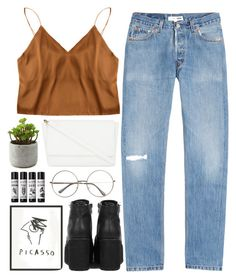 """""""qui est cette fille?"""" by spiriva ❤ liked on Polyvore featuring RE/DONE and Skinnydip"""