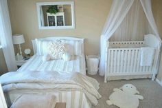 Shared nursery and toddler room ideas sharing with baby decorating