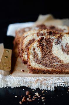 Milk Chocolate Marble Loaf Cake
