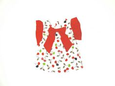 Cherry Top  Toddler Outfit Summer Baby Girl by LoopsyBaby #summer #girls #cherry #red
