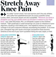 knee pain stretches-- I definitely need this,  my knees prevent me from running longer