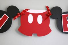 mickey mouse birthday banner | The second banner I made was very similar but without the pants and ...