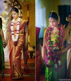 Bride in Royal Look Sarees - Saree Blouse Patterns South Indian Weddings, South Indian Bride, Indian Bridal, South Indian Makeup, Telugu Wedding, Wedding Bride, Wedding Pins, Wedding Bells, Wedding Ceremony