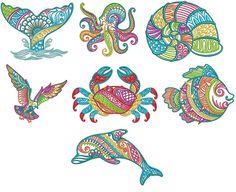 Mehndi Sea Life Set 3