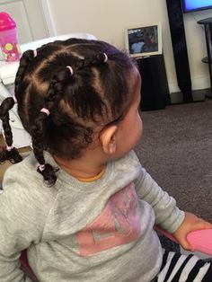 Girl hairstyles 483714816230278783 - Simple Curly Mixed Race Hairstyles for Biracial Girls Mixed Race Hairstyles, Black Baby Hairstyles, Cute Toddler Hairstyles, Kids Curly Hairstyles, Creative Hairstyles, Hairstyles Pictures, Easy Hairstyle, Braid Hairstyles, Black Hairstyle
