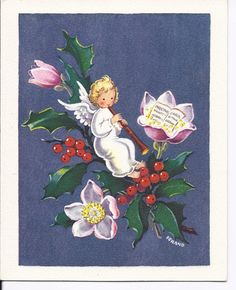 C189 Vintage Unused Christmas Greeting Card  by by jarysstuff, $3.00
