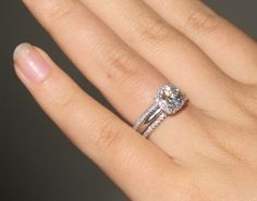 2 Small Pave Bands With Plain Shank Halo Love The Engagement Ring S Band