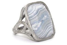 Blue Lace Agate Ring on OneKingsLane.com