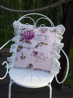 Linen pillow case by shabby.romantic / Ľanová obliečka Romantique