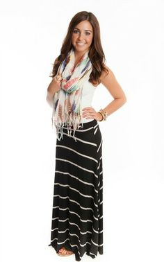 Super Soft Striped Maxi Skirt