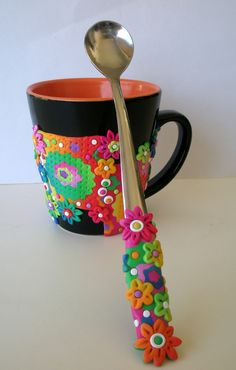 https://flic.kr/p/brBhE1   Put some color in your life   Mug and long spoon set