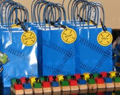 Train Party Favor Bags by Violin28 - Cards and Paper Crafts at Splitcoaststampers