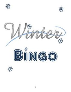 Winter Picture BINGO Game