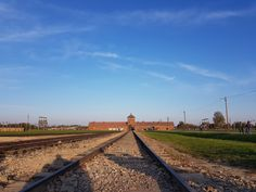 My sister and I went on a tour of Auschwitz & Birkenau. Auschwitz & Birkenau were concentration camps opened during World War 2 to house & exterminate Jews Wieliczka Salt Mine, Krakow, Day Tours, Old Town, Railroad Tracks, Poland, Entrance, Beautiful Pictures, To Go