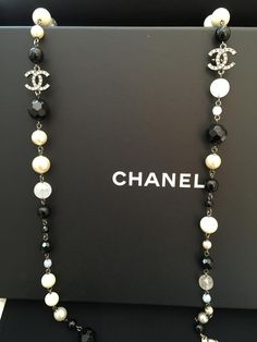 Chanel Chanel CC Cystals & Pearl Necklace