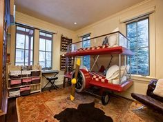 Boys Bedroom-how cute are these bunk beds??
