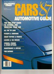 Cars Magazine 1987 Automotive Guide Car Truck Minivan DIY Repair