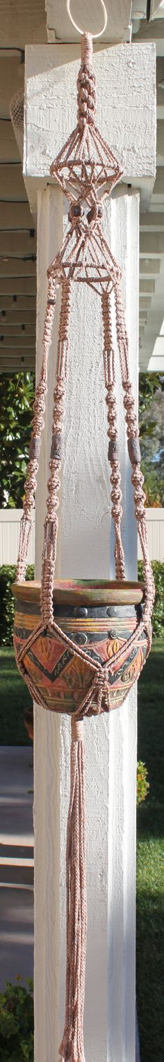 RINGMASTER Macrame Plant Hanger, Pottery, by ChironCreations