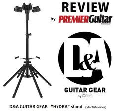 "please read the overview of our NEW ""Hydra""  guitar stand by Premier Guitar magazine (CLICK THE PIC)"