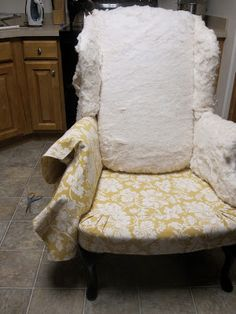 how to reupholster a wingback chair part 2 putting it back on