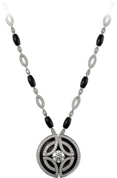 Galanterie de Cartier necklace White gold, black lacquer, onyx, diamonds