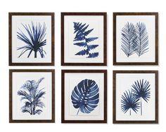 Indigo Foliage Print | Williams-Sonoma