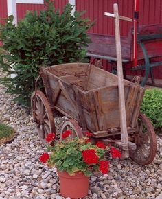 I need this old wagon for Liam to ride in to be the ring bearer in our wedding!