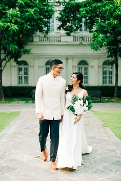 This Wedding had a Mix of Tropical and Filipino Elements, and the Result was Fresh and Beautiful