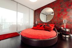Modern Round Bed Design Ideas - Round Beds For Minimalist Bedrooms. Usually, the general perception of a Modern Round Bed Design Ideas is only. Shabby Chic Furniture, Home Furniture, Furniture Makers, Wallpaper Design For Bedroom, Design Bedroom, Bedroom Wall, Bedroom Decor, Bedroom Sets, Yurts