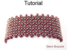 Right Angle Weave RAW Toho Demi Seed Bead Bracelet Beading Pattern Tutorial | Simple Bead Patterns