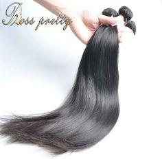 로스 예쁜 헤어 번들 품질 페루 처녀 머리 직선 3 개 페루 직선 처녀 머리 직조 도매 가격 판매