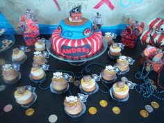 Pirate cake & cupcake toppers